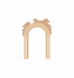 Brick semicircular arch icon cartoon style vector image