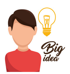 Bulb light big idea concept vector