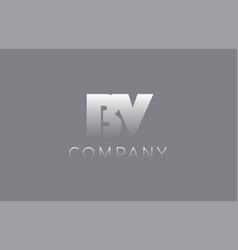 Bv b v pastel blue letter combination logo icon vector