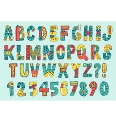 Cartoon Colorful Robot Font Type vector