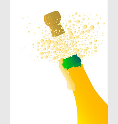 champagne poster vector image