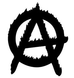 Cool anarchy logo vector