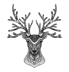 Decorative Deer Portrait vector image