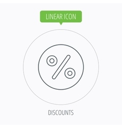 Discount percent icon Sale sign vector image