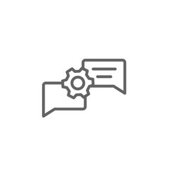 Discussion chat bubble outline icon elements of vector