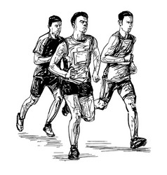 drawing running competition vector image