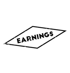 Earnings rubber stamp vector