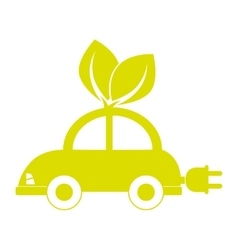 Electric vehicle car icon vector