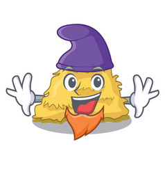 Elf hay bale character cartoon vector