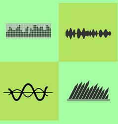equalizer interface variants vector image