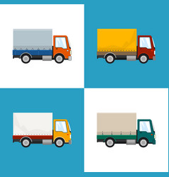 Four types of small covered truck vector
