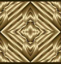 gold 3d geometric seamless pattern modern vector image
