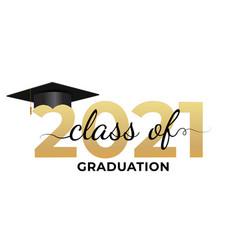 Graduation condratulations class 2021 vector