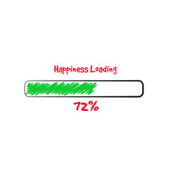 Happy holiday loading banner vector
