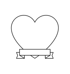 heart and ribbon icon vector image