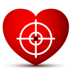Heart graphics with crosshair vector