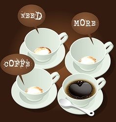 hot coffee with speech bubble vector image