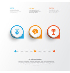 Hr icons set collection of navigation deal vector