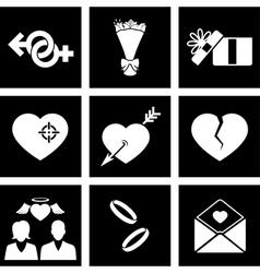 Icon love vector image