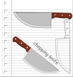 knife with on paper vector image