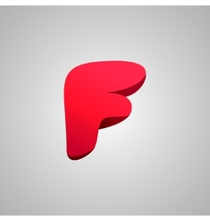 Letter F comic style font EPS10 vector