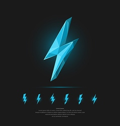 Lightning in polygonal style vector