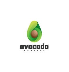 Logo avocado gradient colorful style vector
