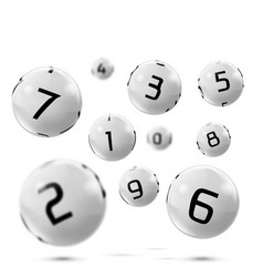 Lotto bingo grey balls with numbers vector
