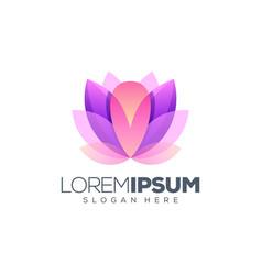 lotus logo design ready to use vector image