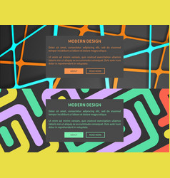 Modern design web pages set vector