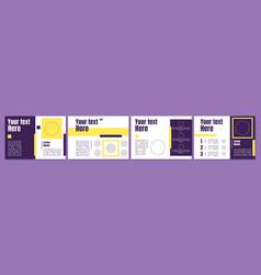 Multipurpose presentation slide template vector