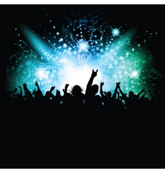 music crowd vector image vector image