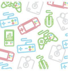neon video game vector image