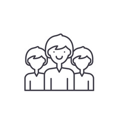 office staff line icon concept office staff vector image