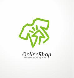 online shopping logo design idea vector image