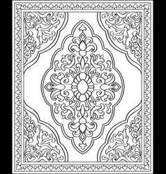 oriental template for carpet vector image
