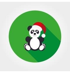 Panda in Santa hat vector image
