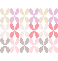 Pastel colored flower vector image