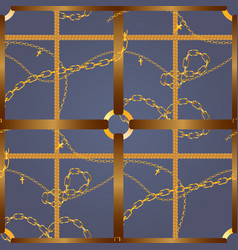 Pattern with golden chains vector