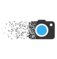 Photo camera damaged pixel icon vector