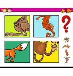 Preschool task with animals vector