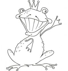 prince frog for coloring book vector image
