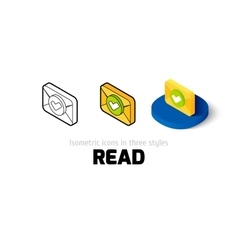 Read icon in different style vector image