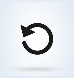 Reload white background simple modern icon vector