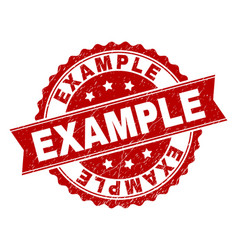 Scratched textured example stamp seal vector