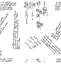 seamless pattern in mathematical inscriptions vector image