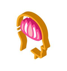 Shaman man isometric icon vector