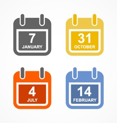 Simple calendar icon in flat style vector