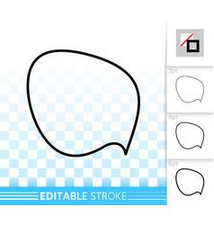 speech bubble simple black line banner icon vector image