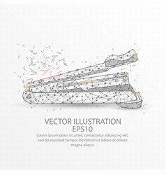 stapler low poly wire frame on white background vector image